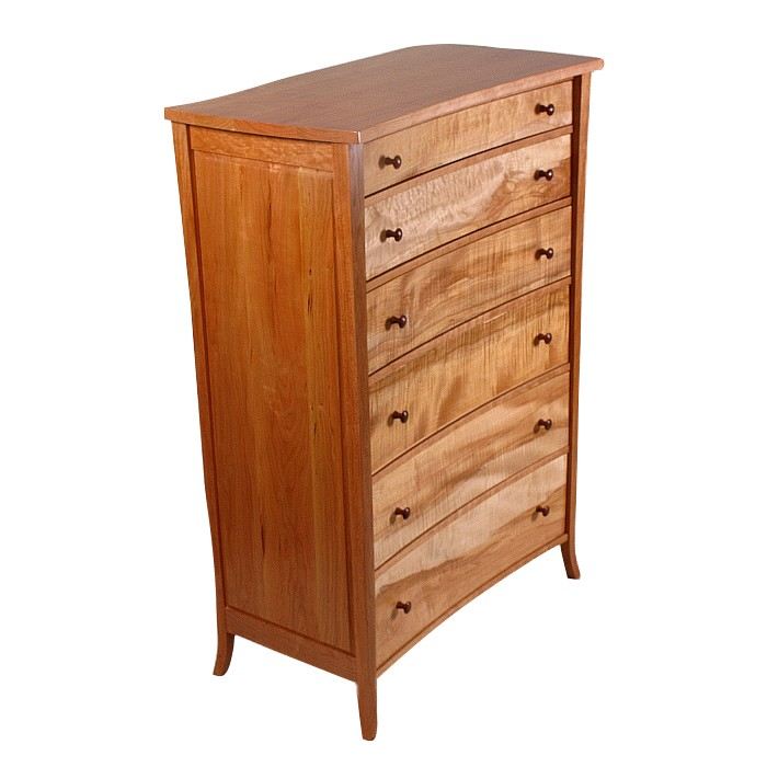 Bow Front Dresser Tall