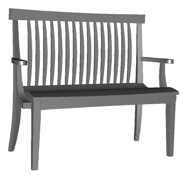 Pacific Mid Back Bench