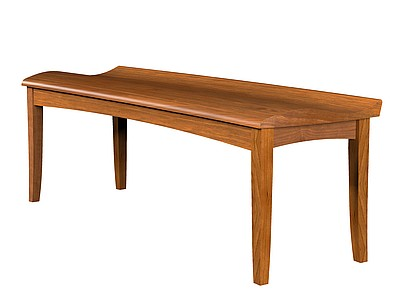 Cove Bench- Scooped Wood Seat 24