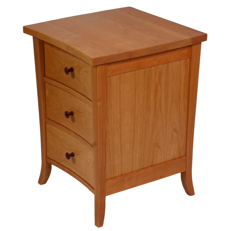 Three Drawer Bow Front Bedside\End  Table
