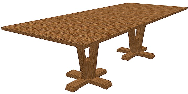 Double Flair Extension Dining Table