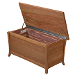 Cedar Lined, no drawer storage, Cherry