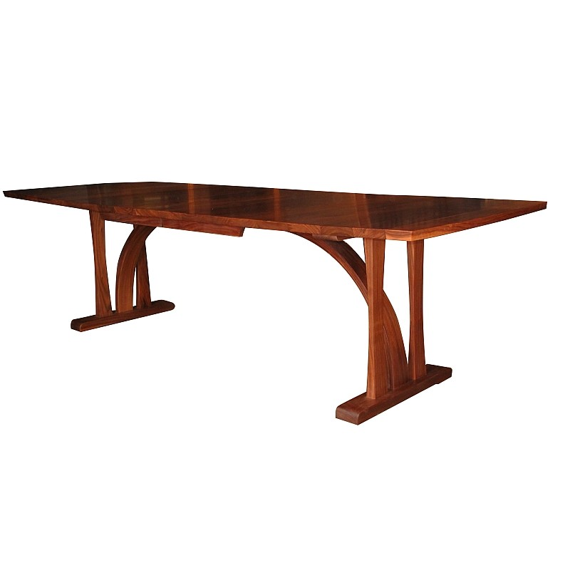 Walnut Extension table with one leaf in