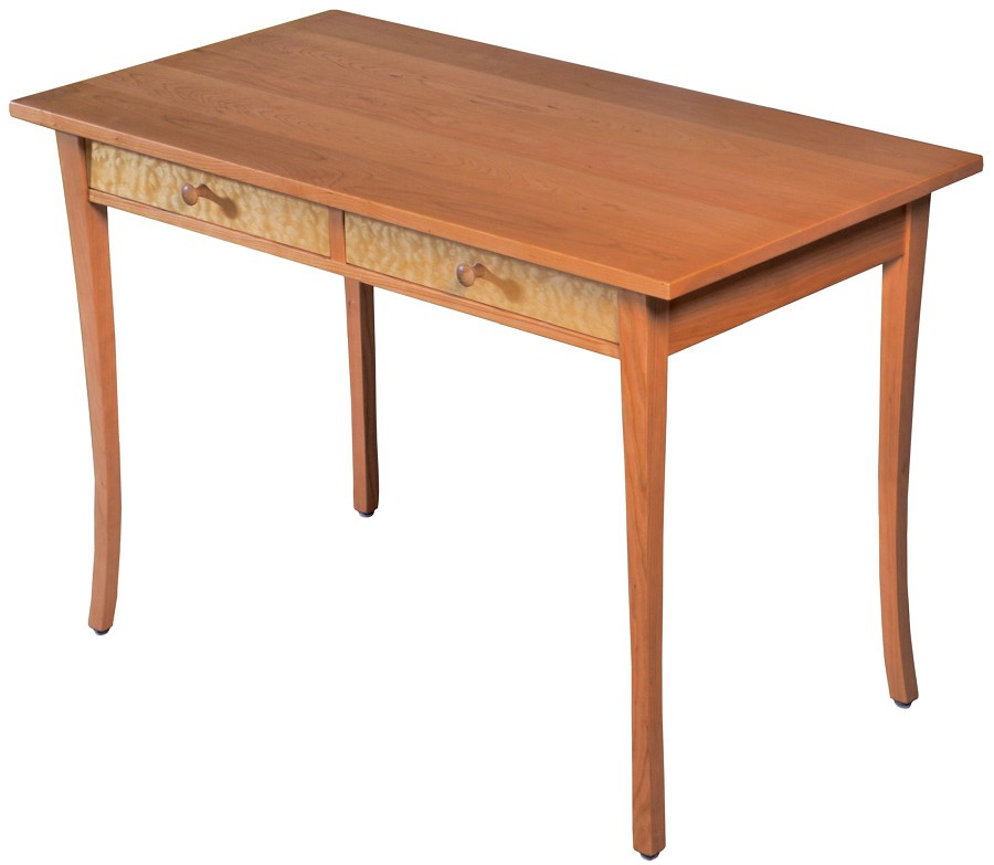 Cherry Writing Desk with pacific legs, rectilinear top